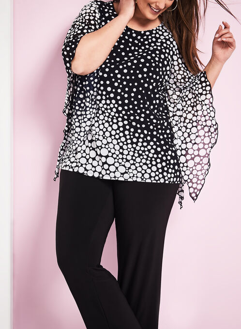 Dot Print Mesh Top, Blue, hi-res