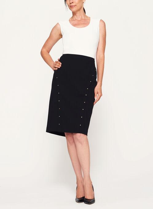 Studded Pencil Skirt, Black, hi-res