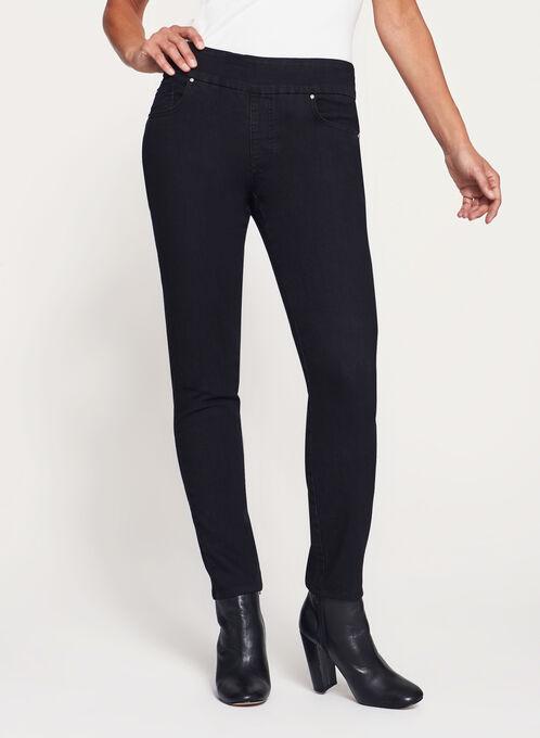 Simon Chang - Contemporary Fit Slim Leg Jeans, Black, hi-res