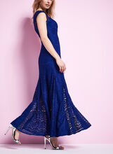 Lace Mermaid Gown , Blue, hi-res