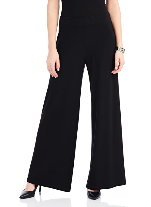 Jersey Wide Leg Pants , Black, hi-res