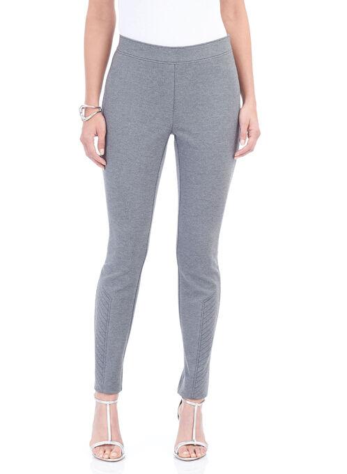 Ponte Slim Leg Pants , Grey, hi-res