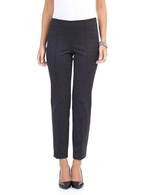 Printed Straight Leg City Fit Pants , Black, hi-res