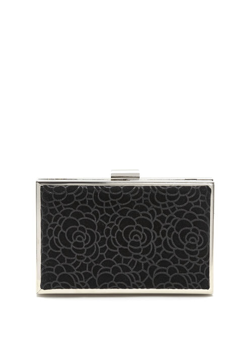 Textured Clutch , Black, hi-res