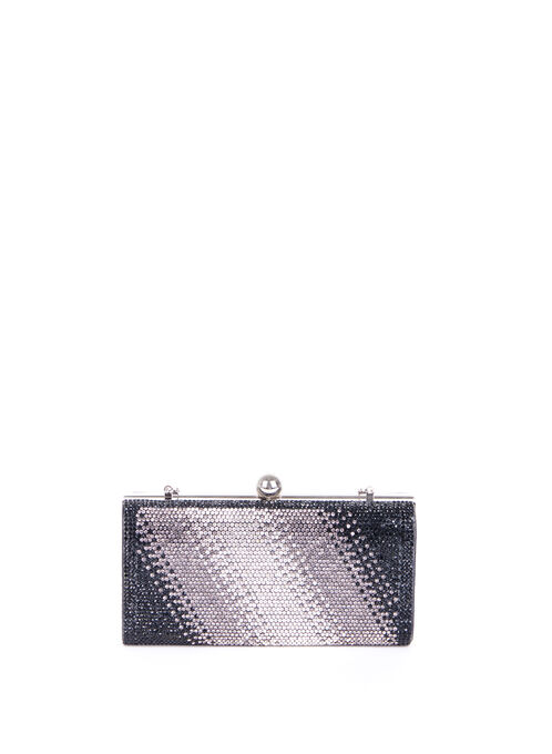 Degradé Crystal Clutch , Black, hi-res