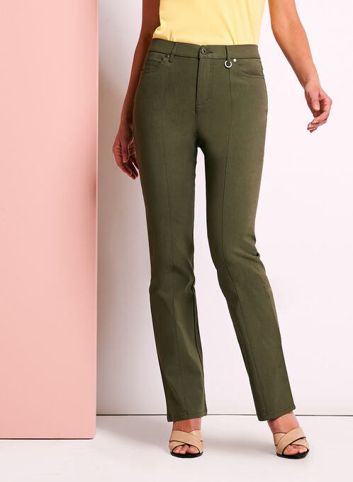Simon Chang Straight Leg Pants, Green, hi-res