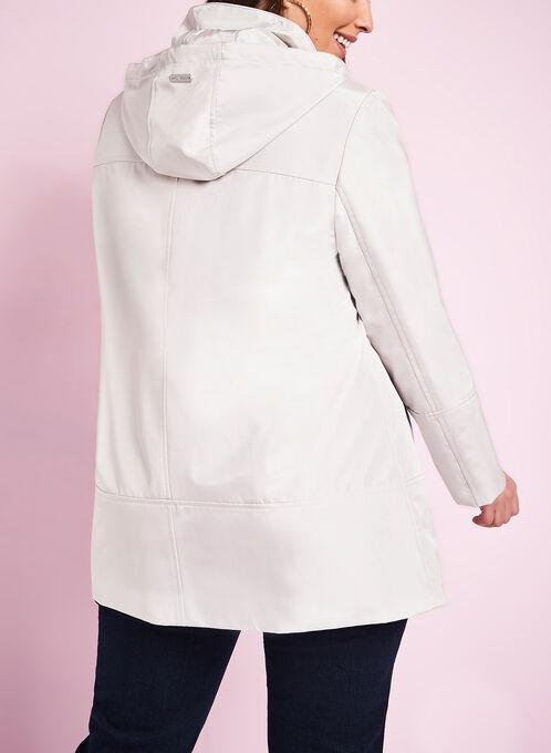 Novelti Iridescent A-Line Coat , Off White, hi-res