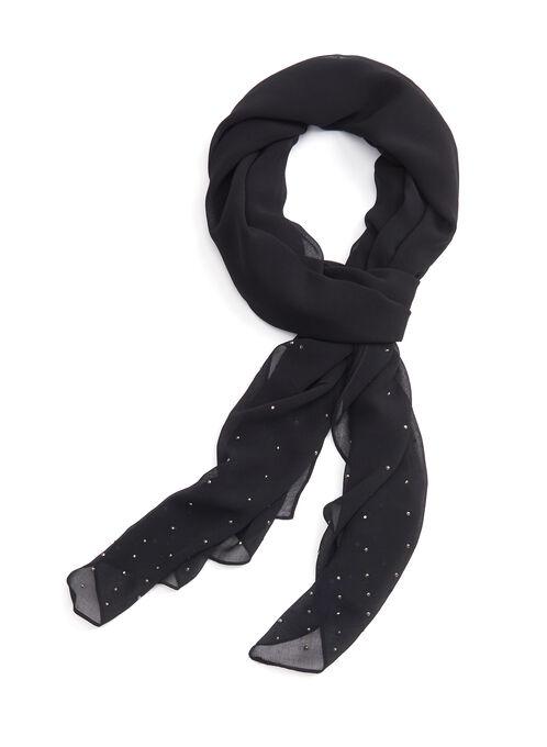 Rhinestone Studded Wrap, Black, hi-res