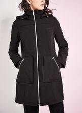 Embossed Anorak Coat, Black, hi-res