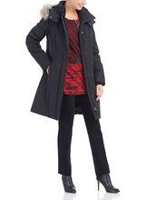 Polyfill Fur Trim Coat, Black, hi-res