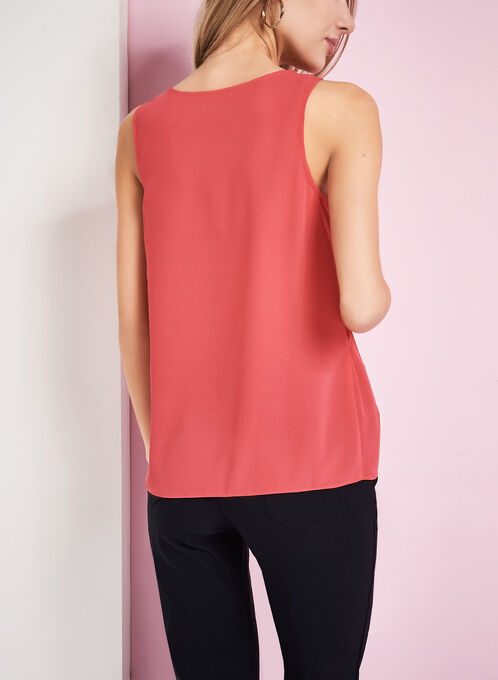 Sleeveless Popover Blouse, Red, hi-res