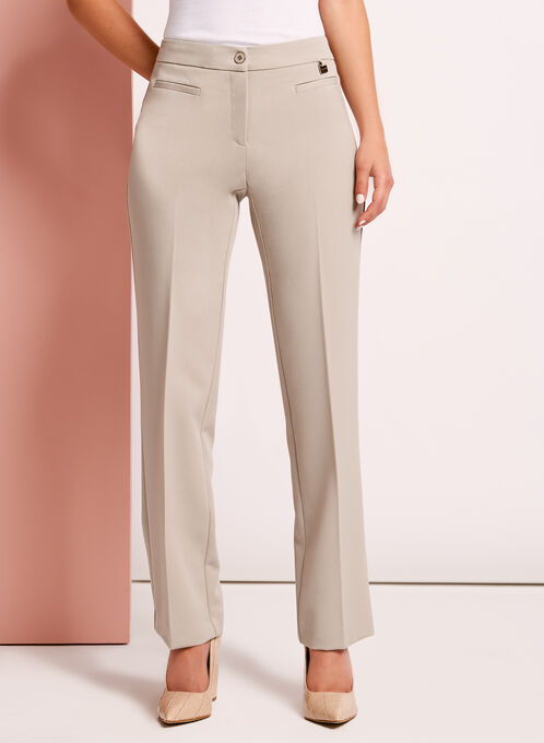 Modern Fit Straight Leg Pants, Grey, hi-res
