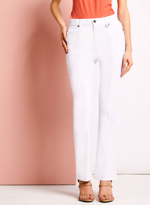 Simon Chang - Straight Leg Pants, White, hi-res