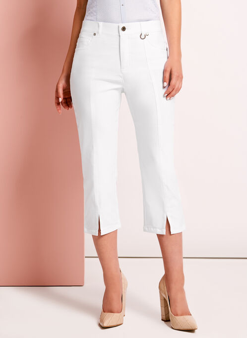 Simon Chang Capri Pants, White, hi-res