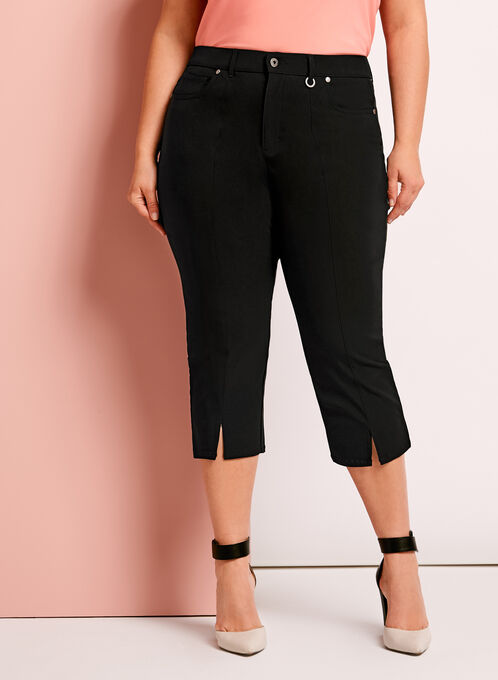 Simon Chang Micro Twill Capris, Black, hi-res