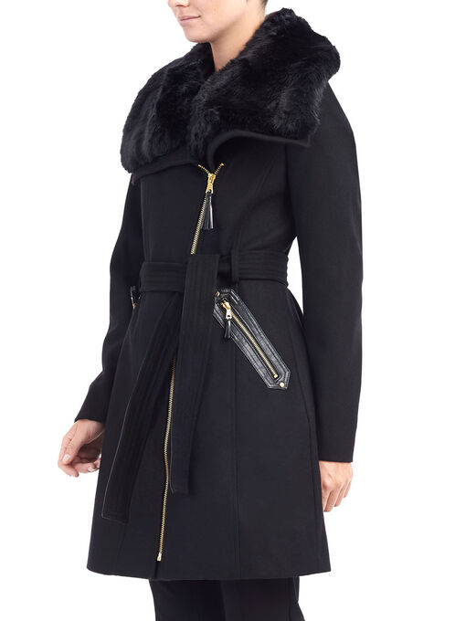 Via Spiga Wool Coat, Black, hi-res