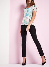 Short Sleeve Floral Print T-shirt, , hi-res