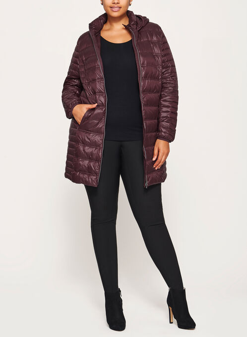 Nuage - Lightweight Packable Down Coat, Red, hi-res