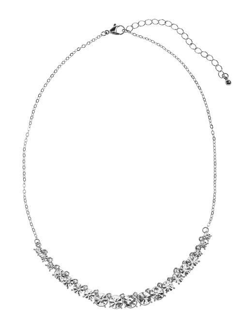 Collier de pierres de cristal, Argent, hi-res