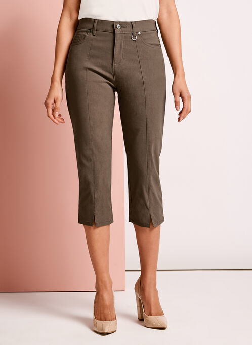 Simon Chang Capri Pants, Brown, hi-res