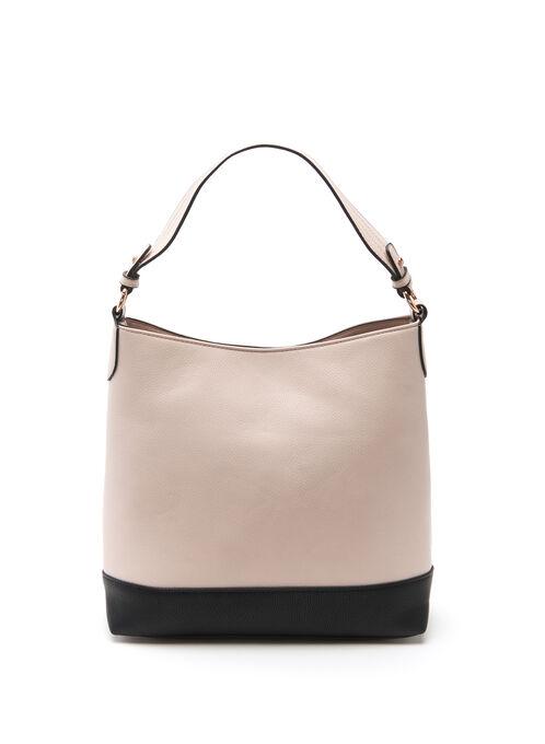 Contrast Hobo Bag , Pink, hi-res