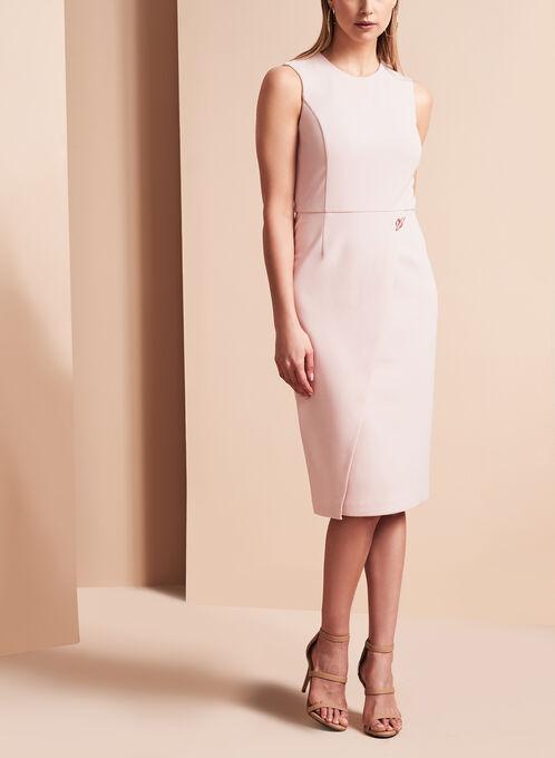 Ivanka Trump Scuba Crepe Dress , Pink, hi-res