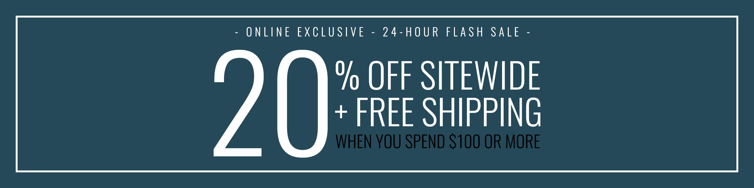 Get 20% off already reduced merchandise + free shipping