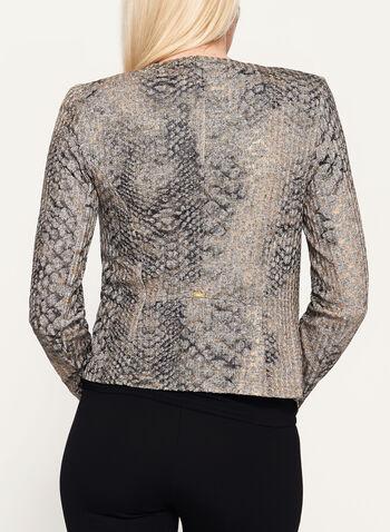 Vex - Abstract Print Open Front Jacket, , hi-res