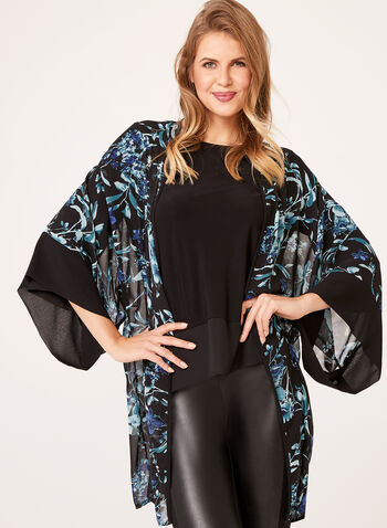 Floral Kimono Top, , hi-res