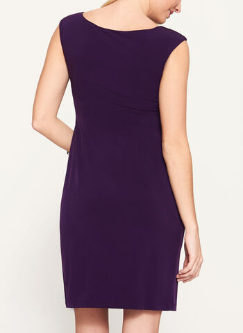 Faux Wrap Sleeveless Jersey Dress, , hi-res