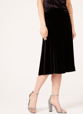 A-Line Velvet Skirt , , hi-res