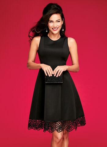 Fit & Flare Scuba Dress, , hi-res