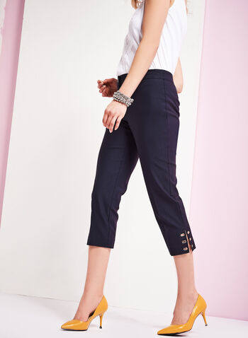 Modern Fit Capri Pants, Blue, hi-res