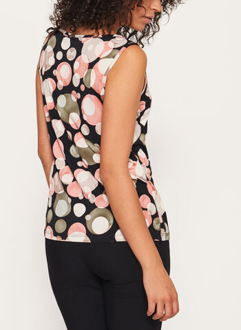 Bubble Print Sleeveless Jersey Top, , hi-res