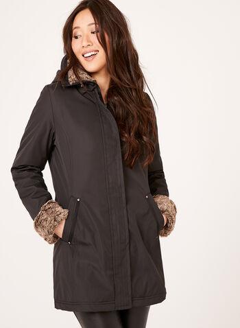 Weatherproof - Manteau avec col en fausse fourrure, , hi-res
