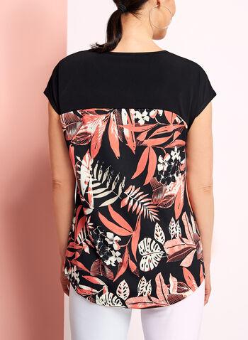Drop Shoulder Floral Print Top, , hi-res
