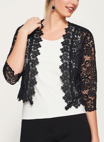 Floral Lace Cropped Blazer, , hi-res