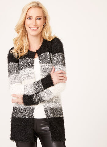 Colour Block Tunic Cardigan , , hi-res