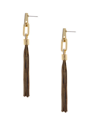 Tassel Drop Earrings , , hi-res