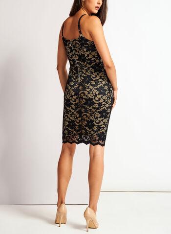 Floral Lace Sheath Dress, , hi-res