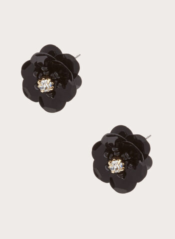 Flower Stud Earrings , , hi-res