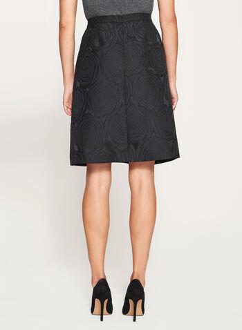 Flared Brocade Skirt, , hi-res