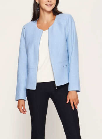 Wool Blend Cropped Jacket, , hi-res