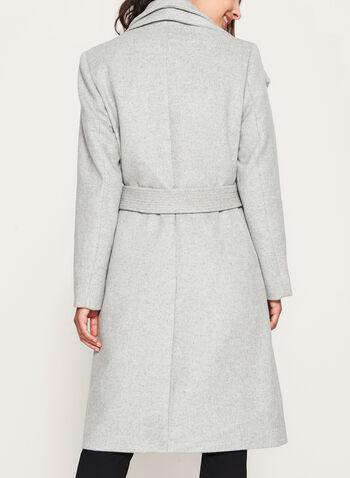 Wool Blend Wrap Coat, , hi-res