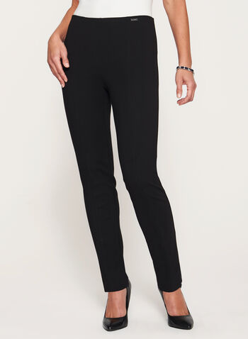 City Fit Slim Leg Ponte Pants, , hi-res
