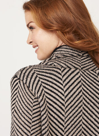 Herringbone Double Knit Cardigan, , hi-res