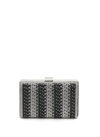 Crystal Embellished Box Clutch, , hi-res