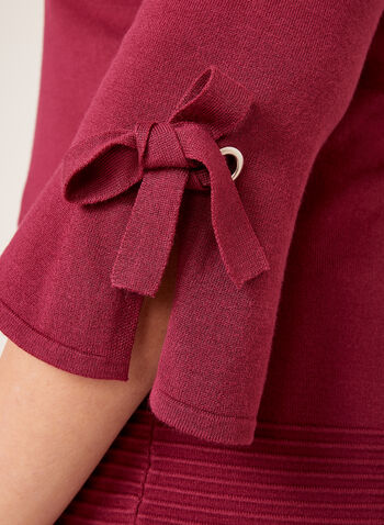 Ottoman Hem Bell Sleeve Sweater, , hi-res