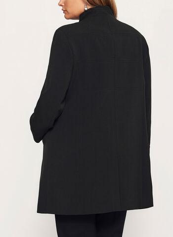 Mandarin Collar Crepe Coat, , hi-res