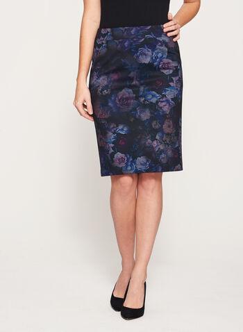 Floral Print Pencil Skirt, , hi-res